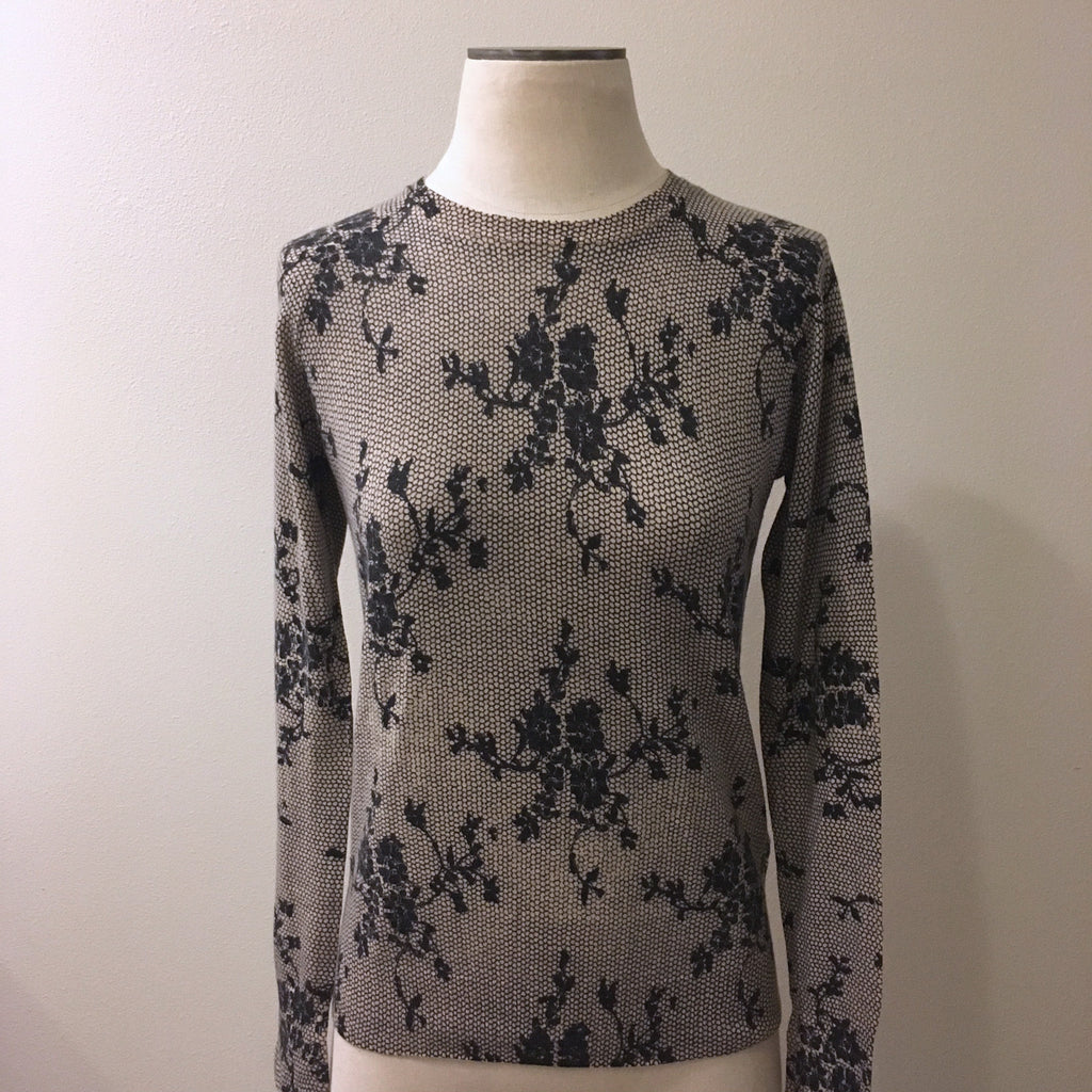 Equipment Cashmere Floral Sweater