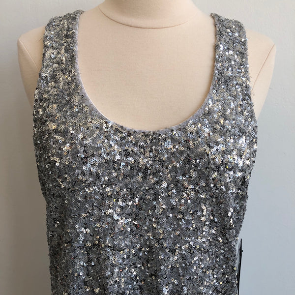 Alice Olivia Silver Sequin Dress NWT