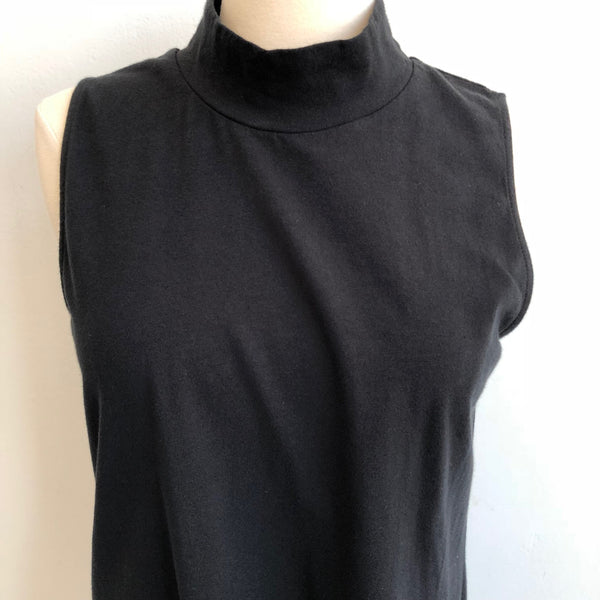 James Perse Black Mock Neck Tank NWT