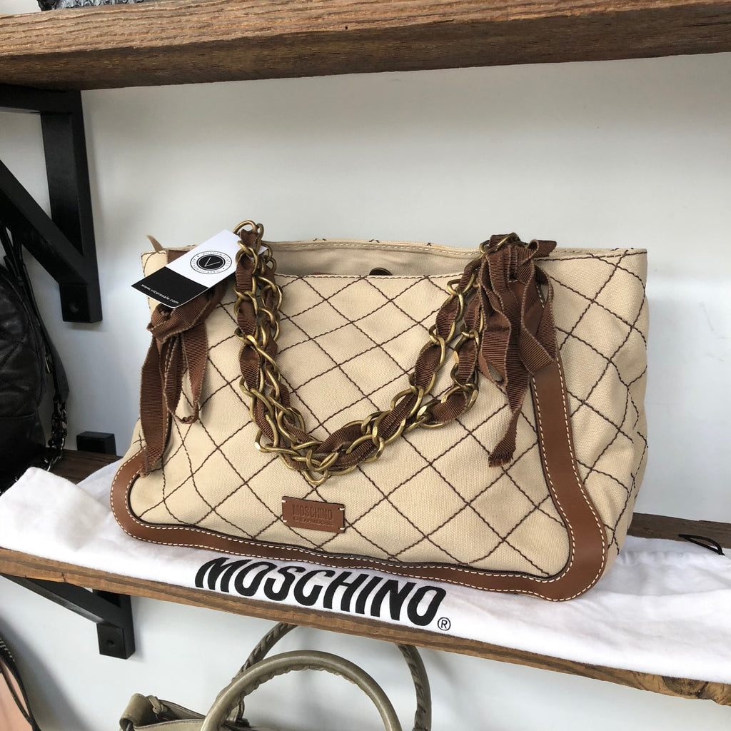 Moschino Cheap & Chic Stitched Canvas w/ dust bag