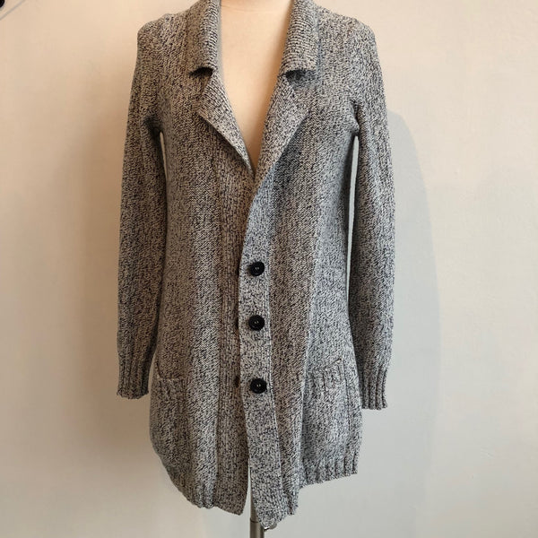 Amina Rubinacci Gray Button Up Sweater