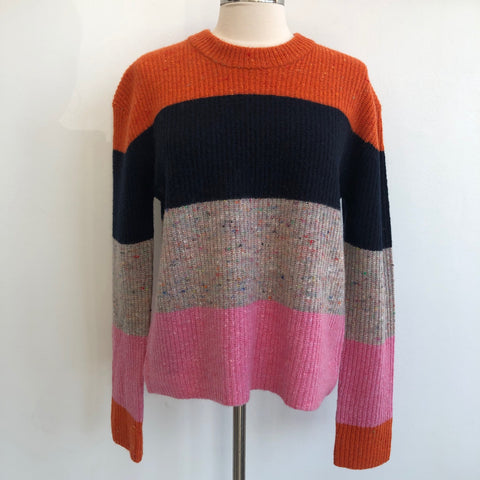 A.L.C. Orange Color Block Cashmere