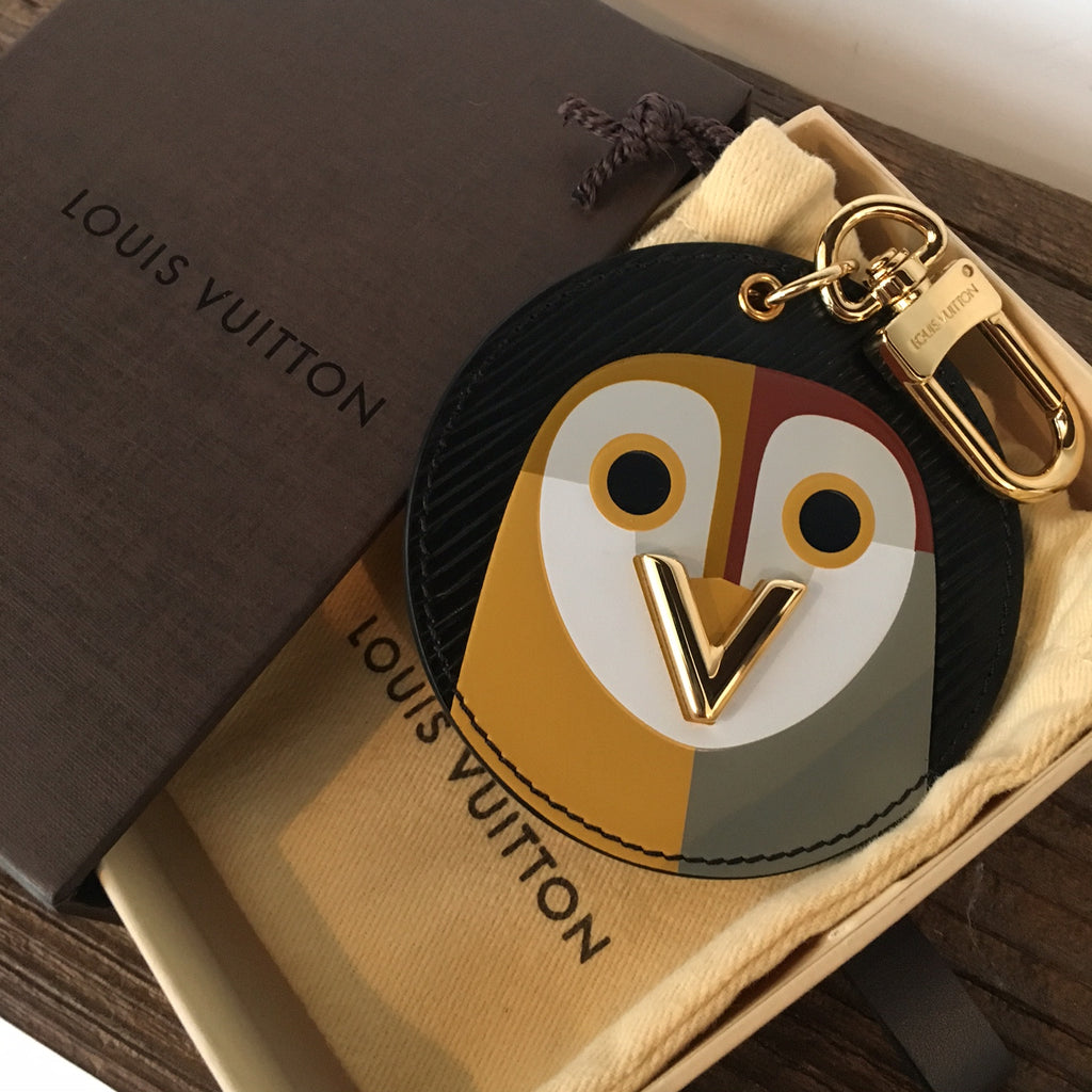 Louis Vuitton Black Epi Night Bird Bag Charm