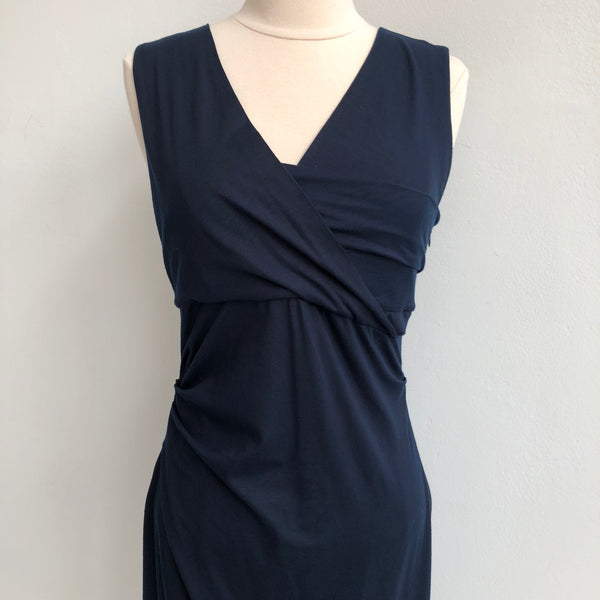 DVF Navy Twist Dress