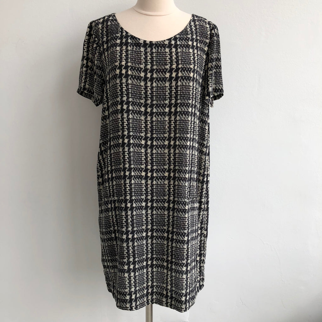 Joie Houndstooth Silk Shift