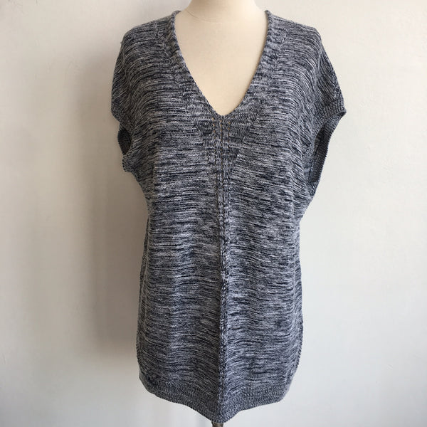 Vince Black Gray V Tunic