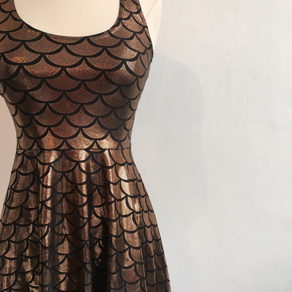 BlackMilk Copper Mermaid Skater Dress