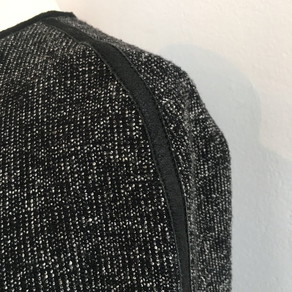 Theory Black Leather Trim Tweed