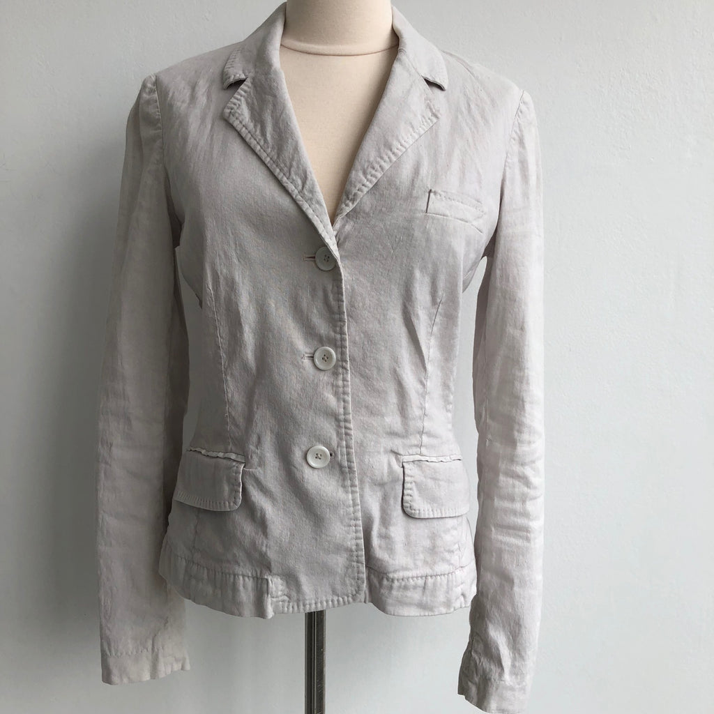 120% Lino Linen Cream Jacket