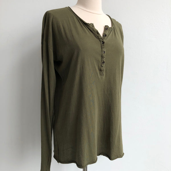 Rag & Bone Green Henley NWT