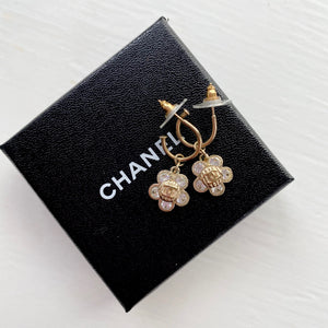 Chanel Crystal Camellia Earrings