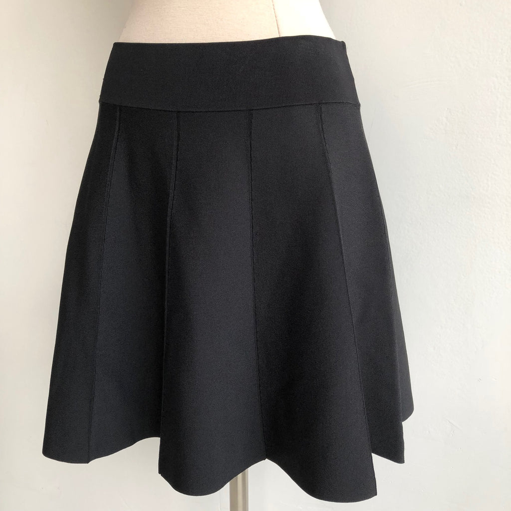 A.L.C. Black Flare Mini Skirt