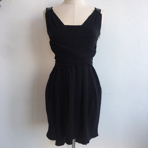 Prada Black Tie Waist Dress