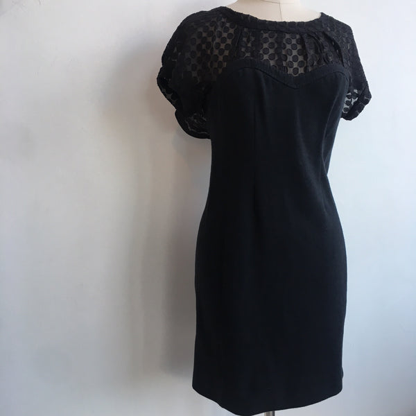 Rebecca Taylor Sheer Neck Cotton NWT