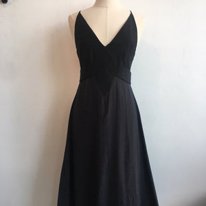 Narciso Rodriguez Black Silk Long Dress NWT
