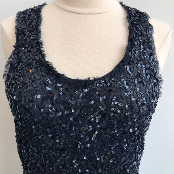 Alice Olivia Navy Sequin Tank