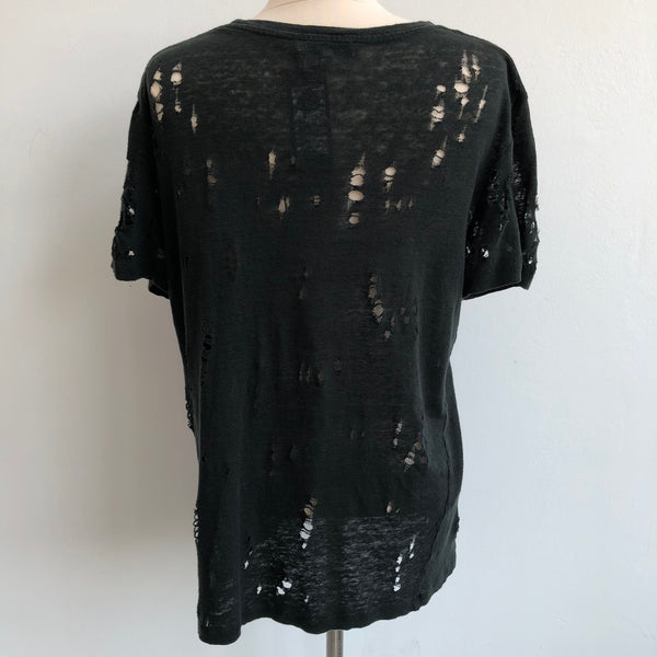 IRO Distressed Dark Green Tee
