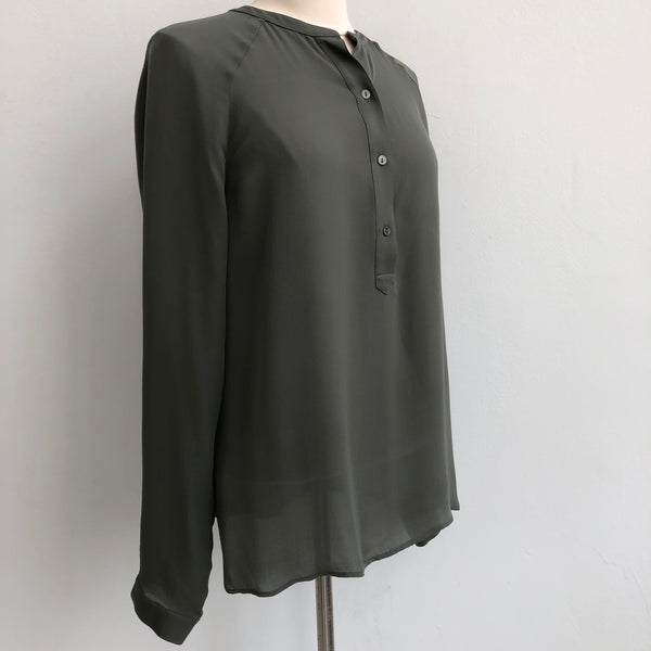 Vince Silk Green Pullover