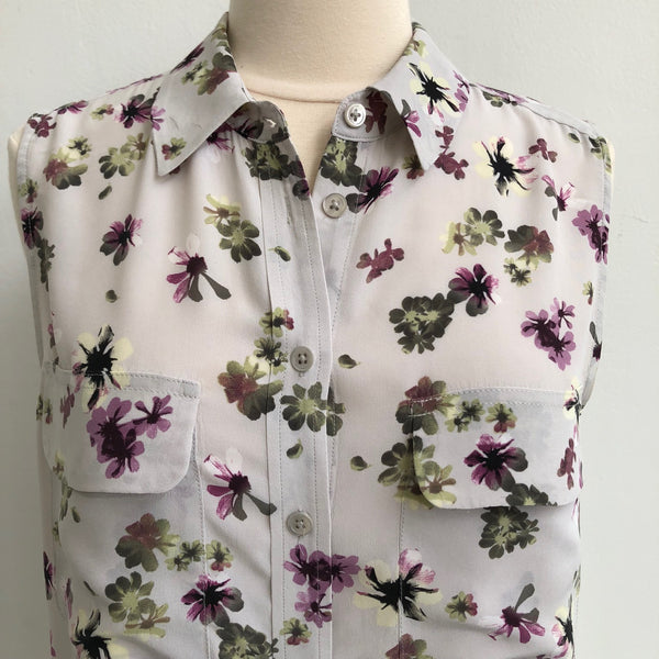 Equipment Floral Button Up Silk