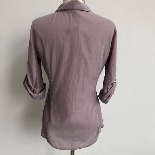James Perse Lavender Button Up