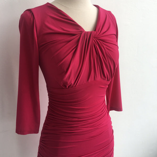 Halston Heritage Pink  Ruched Dress