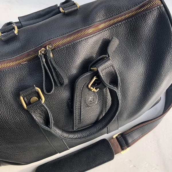 DesignsByTHOR Pebbled Leather Travel Med