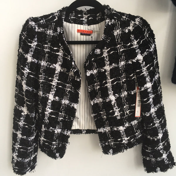 Alice Olivia Black and White Jacket NWT