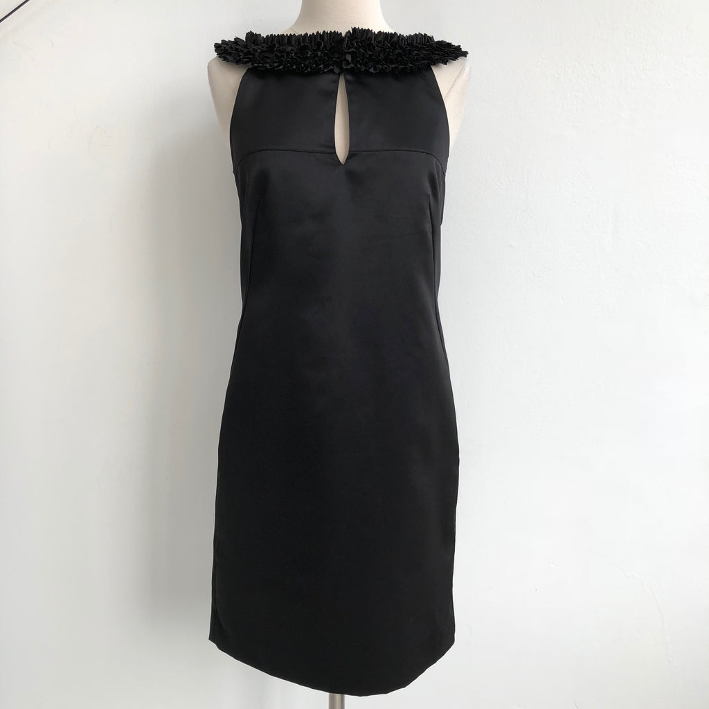 Ted Baker Black Ruffle Neck Satin