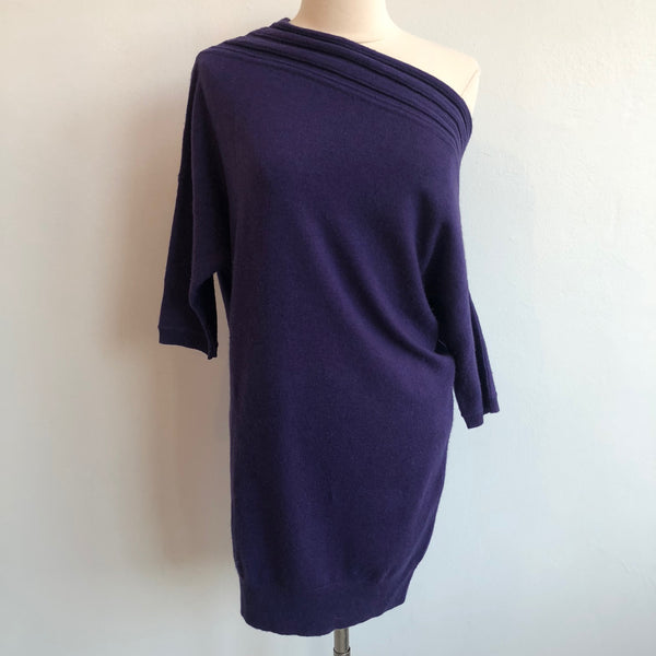 Alice Olivia Purple Boatneck