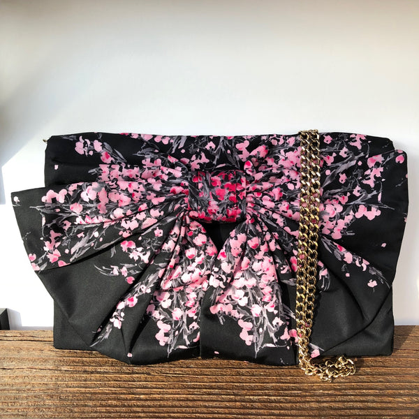 RED Valentino Floral Bow Crossbody Clutch w/dustbag