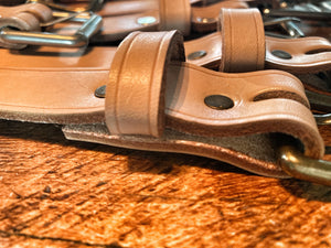 "Portland Made | MG Custom 1"" Natural Leather Belt"