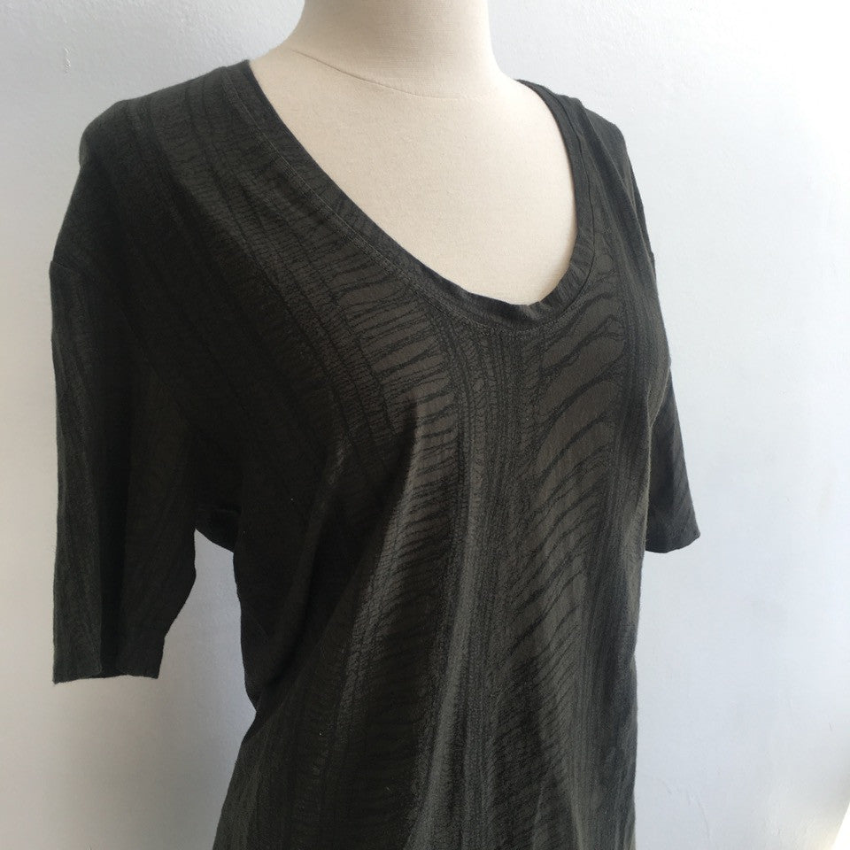 Raquel Allegra Green Tunic Tee