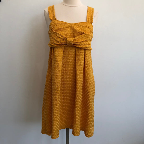 See By Chloe Yellow Bow Pocket Dress