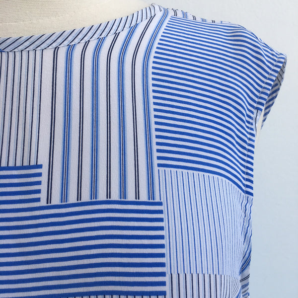 Equipment Blue White Silk Stripes