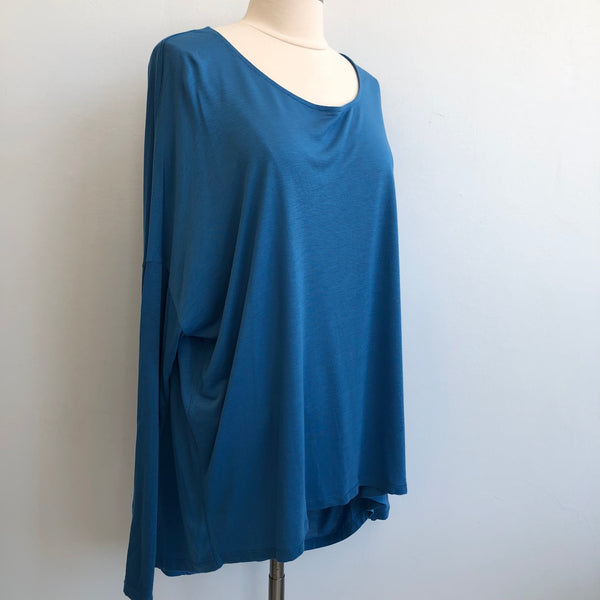 Vince Semi Sheer Blue Tunic