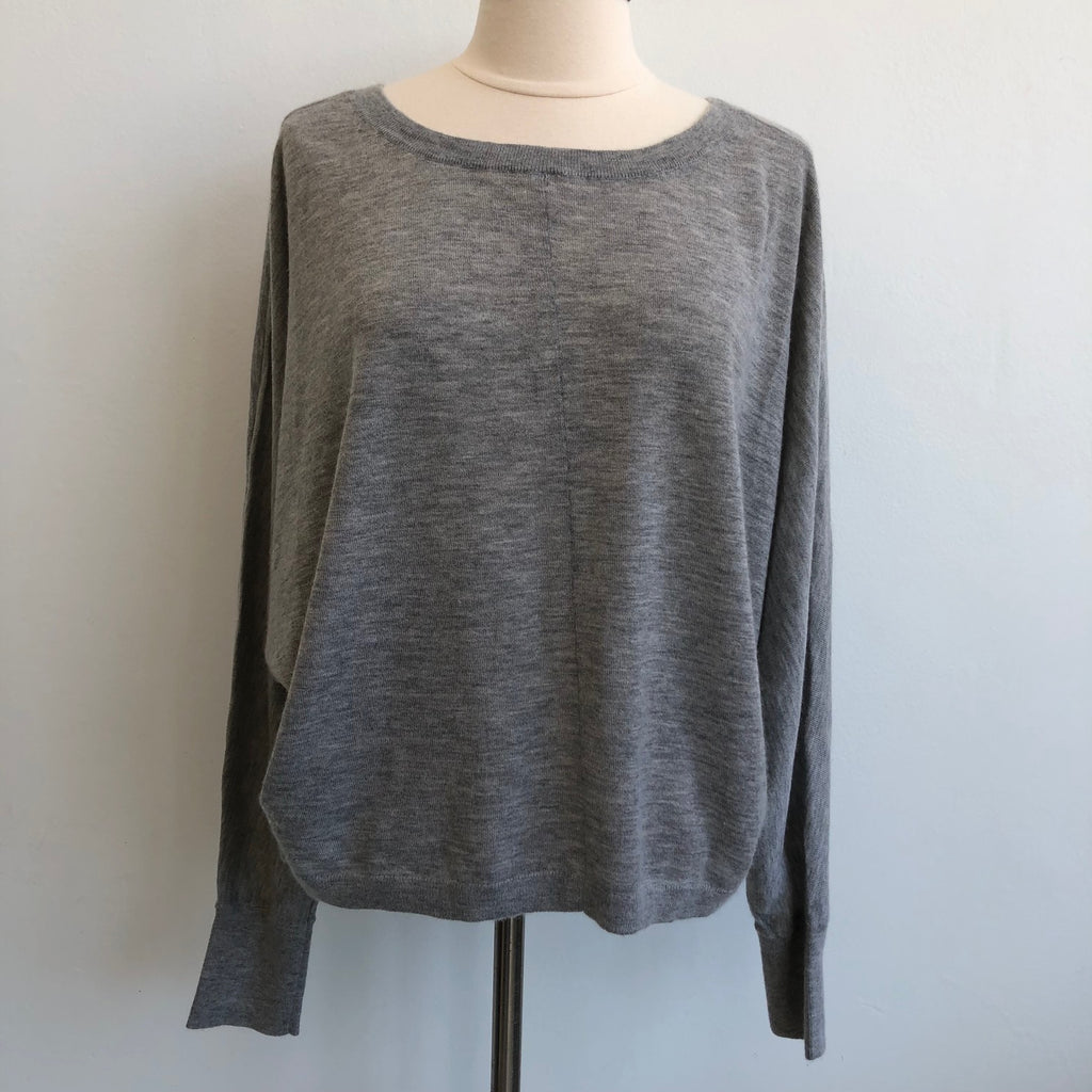 Vince Gray Cashmere Boxy Sweater