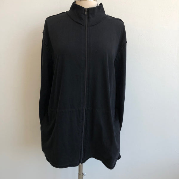 James Perse Black Fitted Basic Jacket