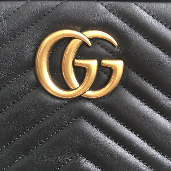 Gucci GG NWT Small Marmont Matelasse Leather Camera Bag