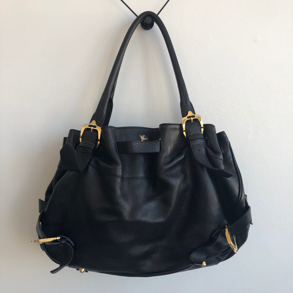Burberry Large Hobo Tote (Gold Hardware)