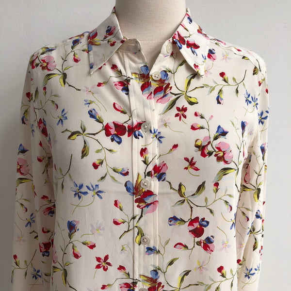 Equipment Floral Silk Blouse