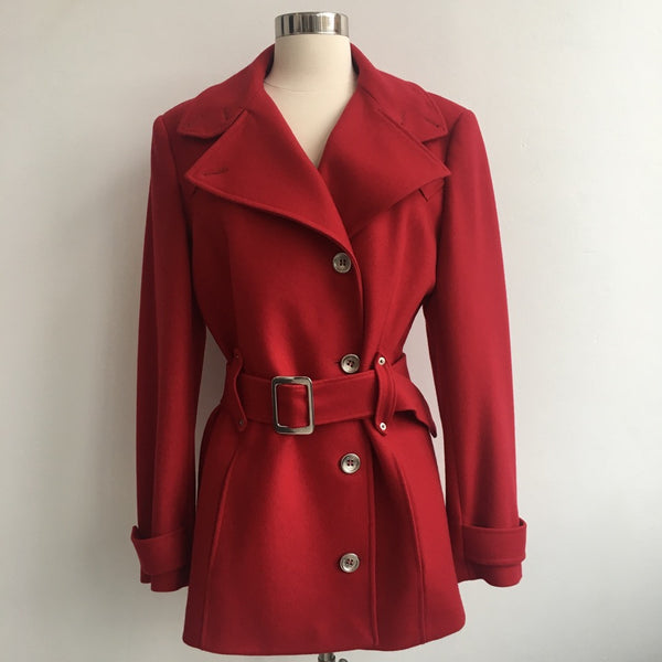 Dolce and Gabbana Red Wool Jacket
