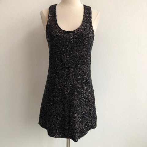 Alice Olivia Black Sequin Dress