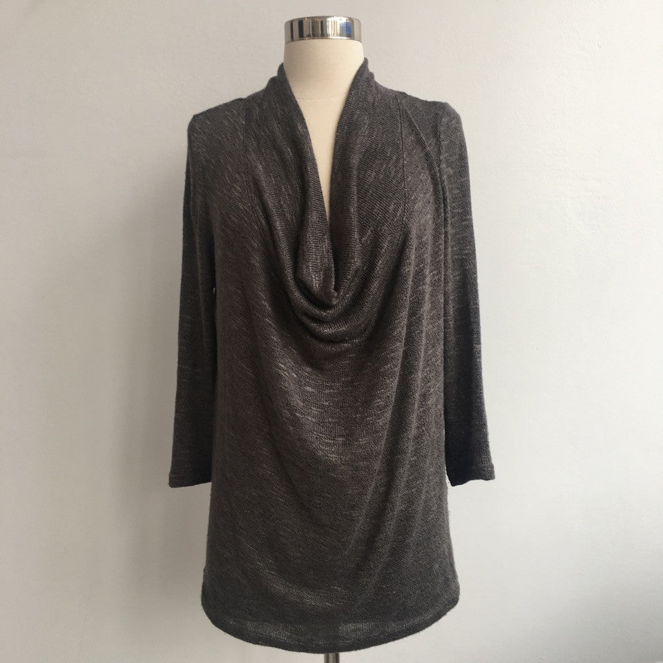 Joie Gray Cowl Long Sleeve Top