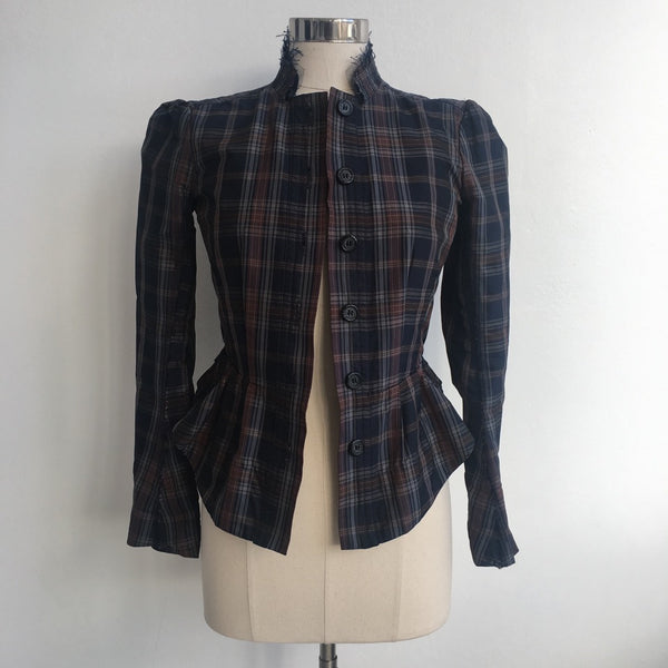 Elizabeth and James Plaid Tailored Jacket