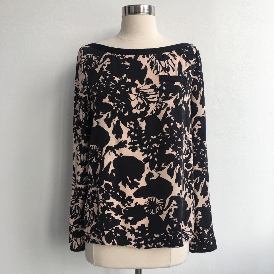 DVF Black and Blush Top