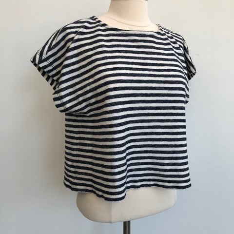 Alice Olivia Navy Cream Striped