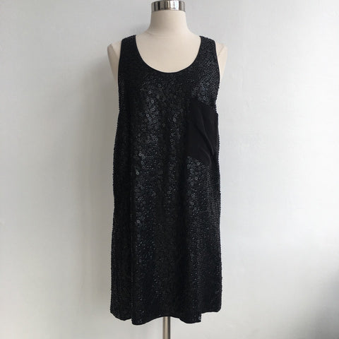 Madison Marcus Black Matte Sequin Dress