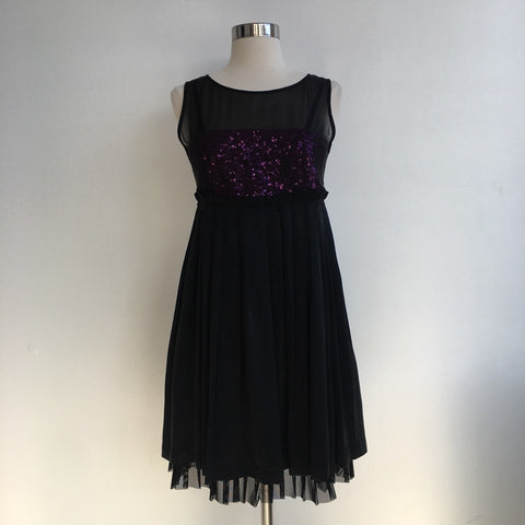 Alice Olivia Pink Black Sequin Dress