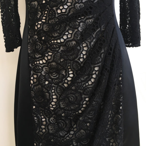 Karen Millen Black Crocheted Dress