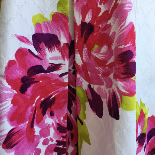 Trina Turk White Pink Floral Flare